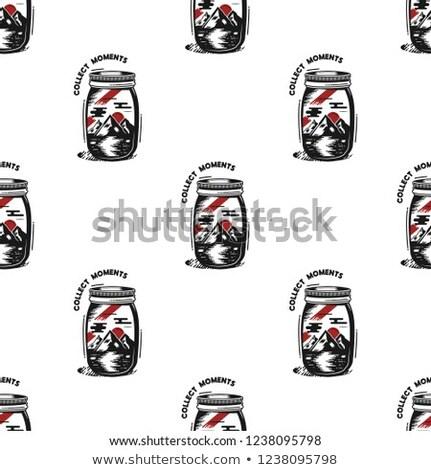 arte · bisonte · blanco · silueta · estilo · retro - foto stock © jeksongraphics