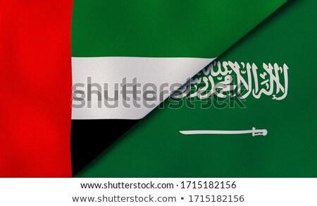 Kettő integet zászlók Egyesült Államok Szaúd-Arábia izolált Stock fotó © MikhailMishchenko