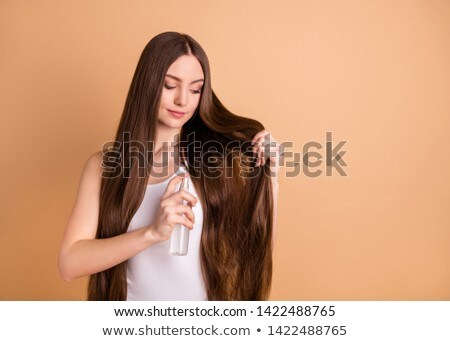 Healthy and happy hair. Keratin treatment. Beauty and care. Trichology. Hand drawn cute cartoon desi Stock photo © user_10144511