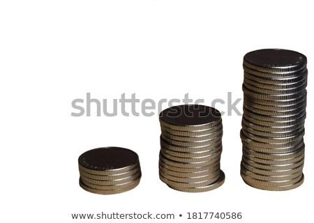Arany érmék fehér felirat adózás közelkép Stock fotó © mizar_21984