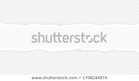 Stock photo: Torn paper edge. Torn paper stripes. Ripped squared horizontal paper strips. Vector illustration