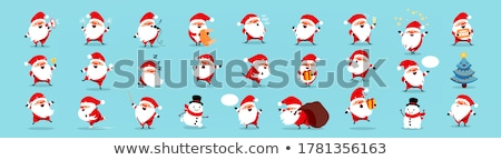 Christmas design with cartoon Santa Claus and star Stock photo © izakowski