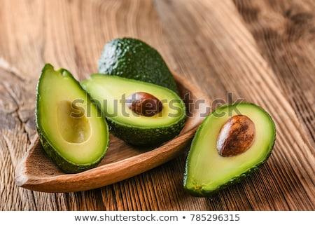 Vers organisch avocado oude houten tafel rustiek Stockfoto © marylooo