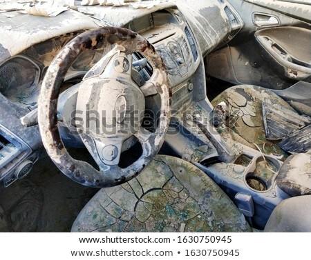 Brudne transportu pojazd uszkodzony samochodu wnętrza Zdjęcia stock © amok