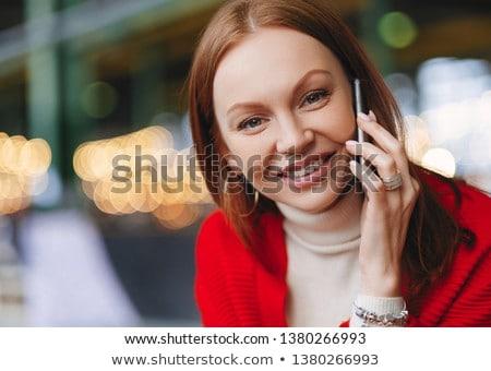 Europejski kobiet zdrowych skóry przyjemny uśmiech Zdjęcia stock © vkstudio