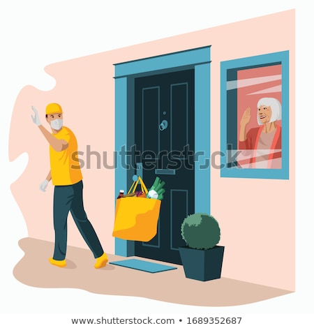 Home Delivery For The Elderly Concept Vector Stock photo © THP