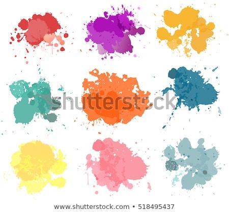 Bright colourful yellow paint splash on white Stock photo © evgeny89