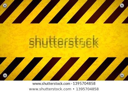 Heldere Geel sjabloon metaal weg Stockfoto © evgeny89