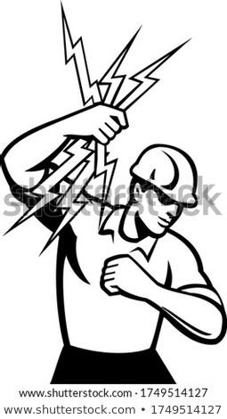 電気 稲妻 サイド レトロな ストックフォト © patrimonio