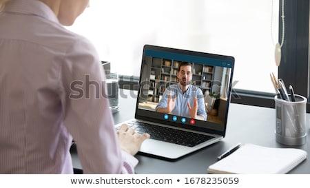 Schouder vrouwelijke freelancer werknemer video Stockfoto © vkstudio