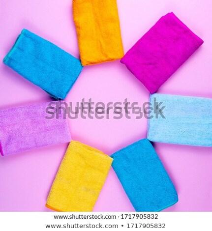 Colorido toalhas roxo magenta branco sabão Foto stock © simply