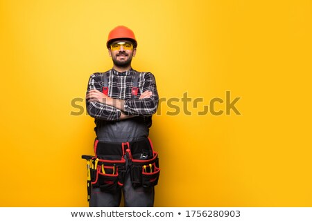 Workman on yellow background Stock photo © photography33