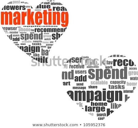 Marketing Word Collage Set In Heart Shape Stock fotó © fotoscool