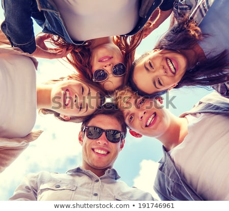 A group of young people hanging out together Stock photo © photography33