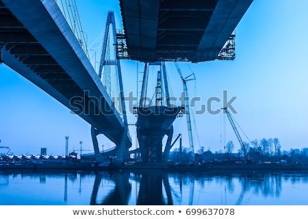 Construction of bridge support Stock photo © marekusz