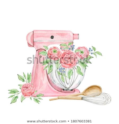 электрических смеситель изолированный белый кухне пить Сток-фото © RuslanOmega