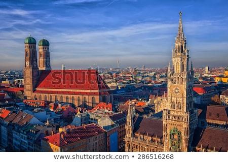 Templom hölgy München Németország épület kő Stock fotó © meinzahn