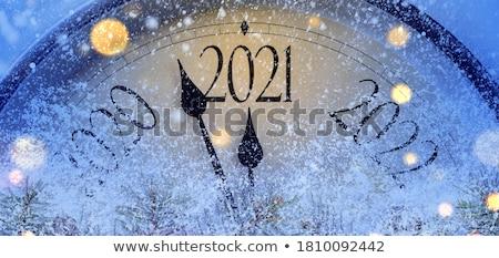 Natal tempo azul projeto estrelas bola Foto stock © limbi007