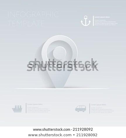 pin · plaats · vakantie · sjabloon · website - stockfoto © LittleCuckoo