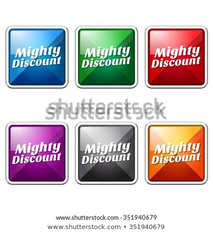 Machtig korting Blauw vector icon knop Stockfoto © rizwanali3d
