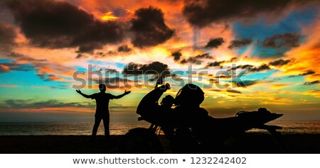 motorcyclist standing on road Stock photo © Paha_L