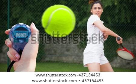 összetett kép teniszező játszik teniszütő szürke Stock fotó © wavebreak_media