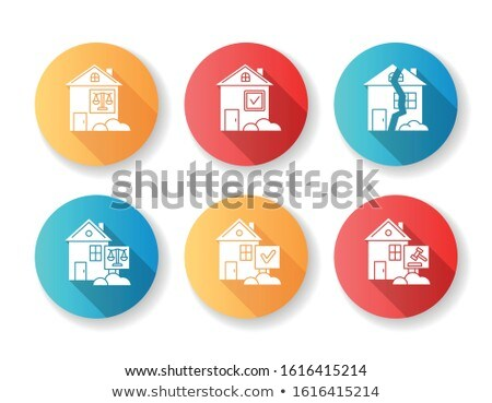 Realty flat white color rounded glyph icon Stock photo © ahasoft