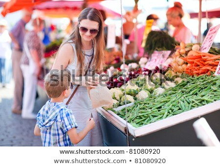 Portrait of woman at outdoor market Stock photo © IS2