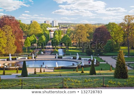 Stockfoto: Flowerbed In Sanssouci Germany