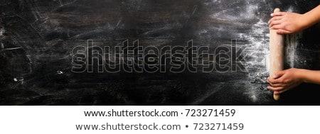 生 パン 材料 黒 背景 表 ストックフォト © Freedomz