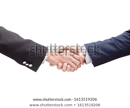 Businessmen shaking hands on white isolate background. Double ex Stock photo © Freedomz