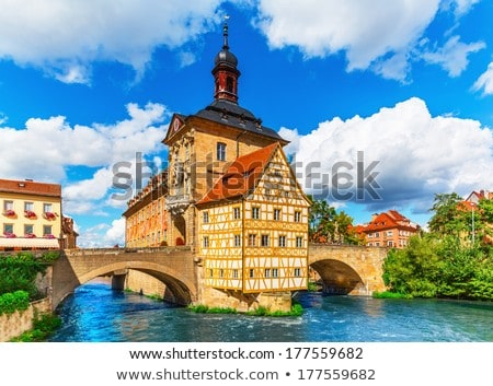 表示 ドイツ 川 市 センター 水 ストックフォト © borisb17