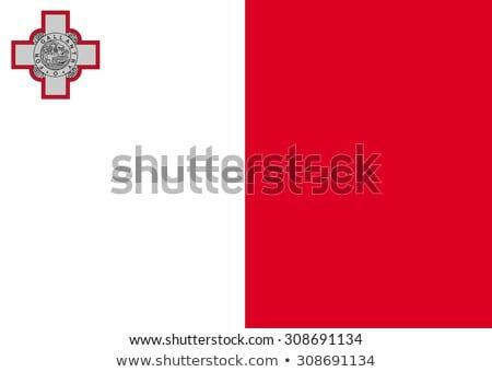 Malta banderą biały tle podpisania podróży Zdjęcia stock © butenkow