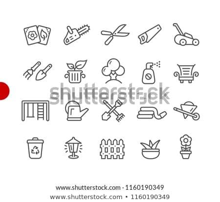Gardening shears. Outline icon. Tool vector illustration Stock photo © Imaagio