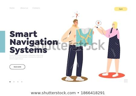 Smartwatch navigation concept landing page. Stock photo © RAStudio