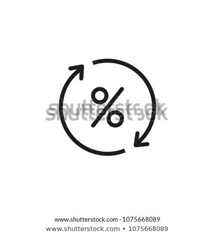 cycle of money and interest icon vector outline illustration Stock photo © pikepicture