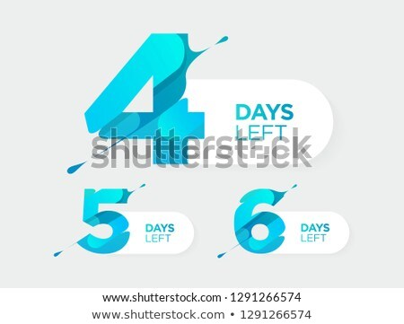 number of days left counter abstract design Stock photo © SArts