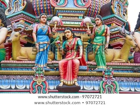 Tempel detail Singapore kleurrijk stad reizen Stockfoto © travelphotography