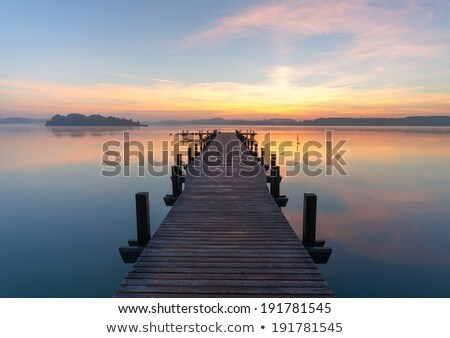 Moody sky over lake. Stock photo © Pietus