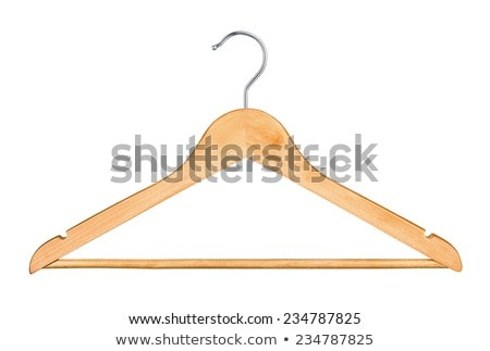 Wooden hanger, it is isolated on a white background Stock photo © shutswis