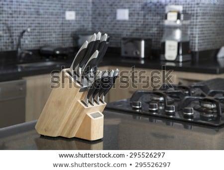 establecer · cuchillos · cuchillo · metal · cocina - foto stock © shutswis
