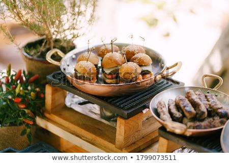 Stock fotó: Réz · tányér · hagyományos · autentikus · néz · hús