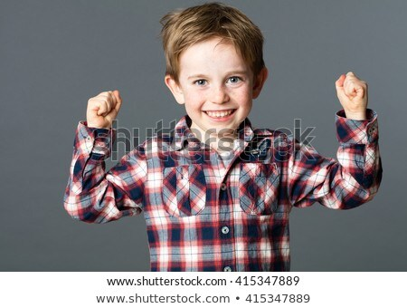 Boy on gray background stock photo © a2bb5s