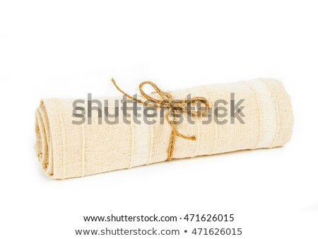 rope roll on military camouflage background Stock photo © inxti