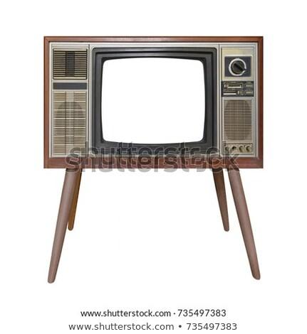 televisão · conjunto · tela · branco · ilustração · 3d - foto stock © witthaya