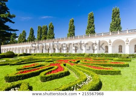 flower garden of kromeriz palace czech republic stock photo © phbcz