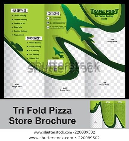 Depolamak broşür ofis dizayn kurumsal kart Stok fotoğraf © rioillustrator