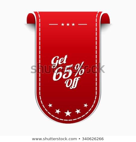 Get 65 Precent Off Red Vector Icon Stock photo © rizwanali3d
