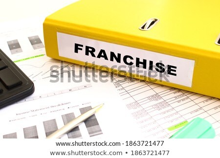 A folder with the label Franchise Stock photo © Zerbor