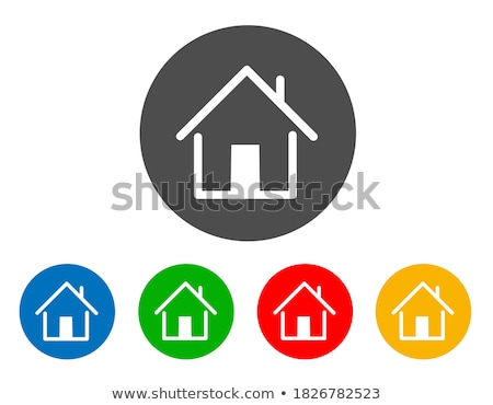 home flat blue and gray colors rounded button stock photo © ahasoft